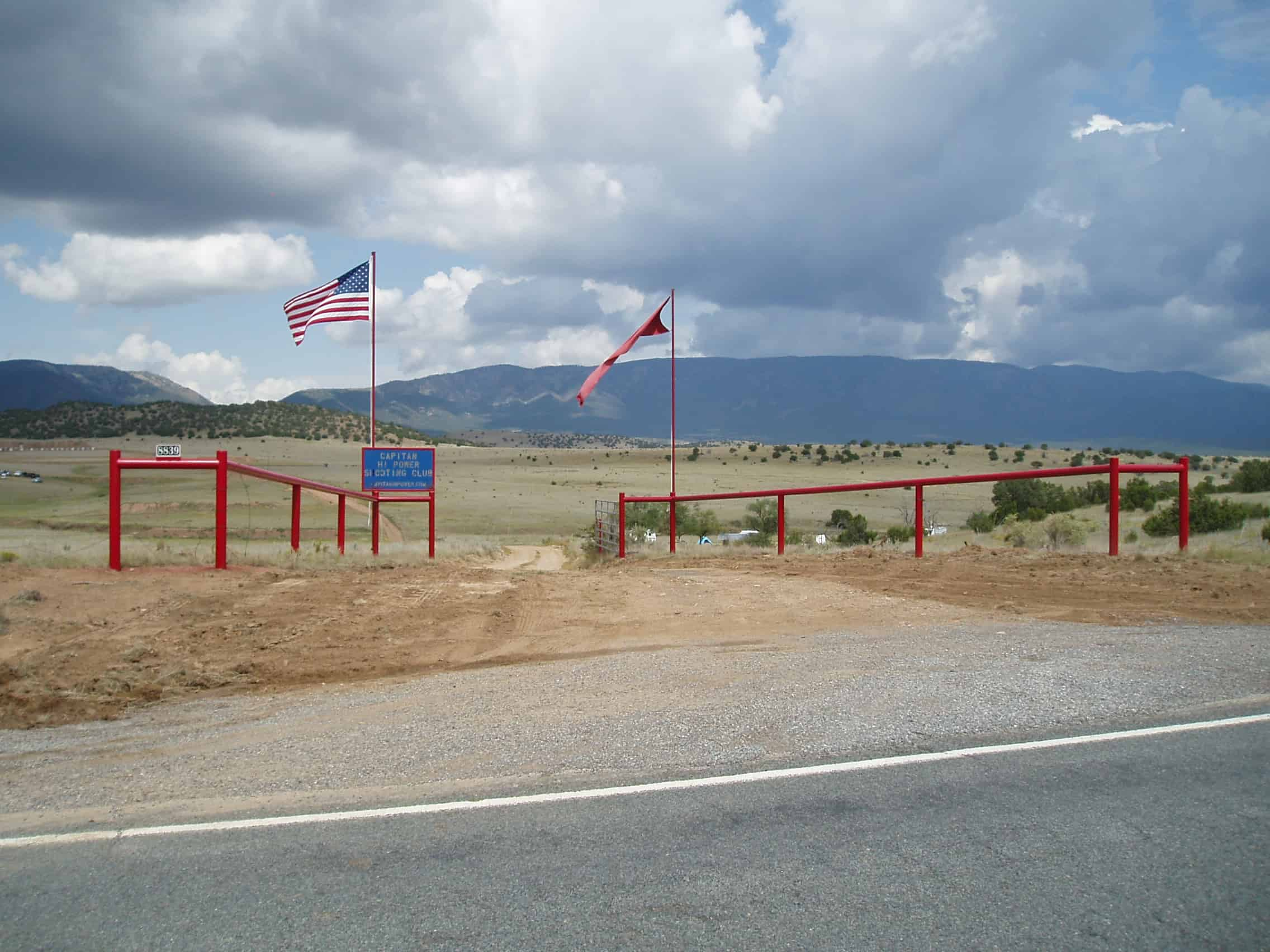 Enlarge ->  New Range Entrance to Capitan Rifle Shooting Range